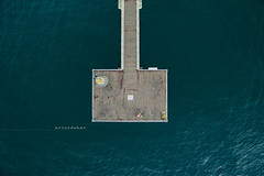 Dock. (arturii!) Tags: ocean above trip morning travel people water beauty up wow square flying high amazing nice interesting dock holidays tour superb awesome great pedestrian aerial minimal route walkway stunning viatge shape vacations impressive mediterraneansea gettyimages drone dji arturii arturdebattk