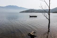 The gorgeous Lake Bafa Nature Park (Matthias58) Tags: lake tree turkey landscape boat flora places equipment vehicle naturepark tr fishermanboat mugla westernturkey lakebafa canoneos6d canonef2470mmf28liiusm lakebafanaturepark bafagölütabiatparkı