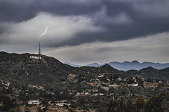 Hollywood Thrills (hitmanfre1) Tags: california santa mountains cali clouds la smog losangeles los aperture nikon raw moody angeles socal monica hollywood views lightning southerncalifornia nikkor dslr hollywoodsign hollywoodhills nikond3200 d3200 moodygram