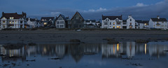 52 - 17 'Reflections' (RHughes5) Tags: houses light sea people reflection water car landscape island coast town nikon coastal anglesey d3200