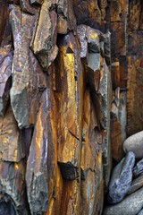 Whats with the long face ? (Livesurfcams) Tags: tin iron rockface formation devon minerals coastalpath bideford ironmask