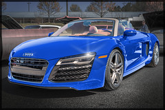AUDI R8 Spyder (*Ken Lane*) Tags: auto blue usa beautiful car racecar fletcher geotagged amazing cool nice automobile perfect unitedstates awesome great northcarolina automotive voiture stunning vehicle audi  carshow carface sportscar bluecar outstanding r8 carphotos carphotography vendimia luxurycar autofocus     carphoto    vehculo vhicule performancecar        photoborder worldcars     nikond800 mba      audir8spyder  carshowphotography photoshopcs6  r8sypder   geo:lat=3542888398 geo:lon=8253093168