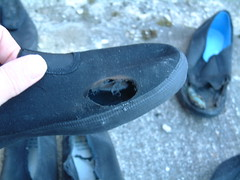 Burning and Trashing old  plimsolls (eurimcoplimsoll) Tags: trash shoes sneakers canvas burn gym trashed destroy plimsolls plimsoles