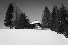 Winter Retreat (oliko2) Tags: schnee trees winter sky house snow monochrome blackwhite february blackforest schauinsland nikond7100