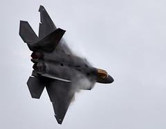 Raptor (Bernie Condon) Tags: uk tattoo plane flying fighter display aircraft aviation military airshow raptor stealth f22 usaf warplane airfield ffd fairford raffairford airtattoo