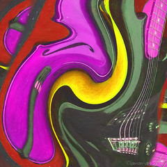 Let's twist again (Lemon~art) Tags: music colour guitar song twist manipulation instrument psychedelic twisted 1961 chubbychecker vioin letstwistagain soundofthesixties