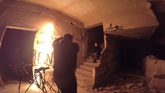"""Making of """"Guy Fawkes in fire"""" (PacoQT) Tags: lightpainting fire guyfawkes fuego gasoline makingof lightart gasolina vdeo gopro nocturnoscalderona"""