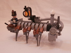 Sidewinder Stallion (DanThaMan12) Tags: horse carriage lego legs pipes steam walker lantern minifig stallion sidewinder steampunk machhine