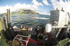 130830-N-TQ272-149 (markelrayes) Tags: ocean hawaii military navy harpersferry marines sailor landingcraft deployment beachmasters lcu lsd49 elrayes