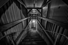 downstairs (Zesk MF) Tags: white black art architecture stairs dark nikon steps sigma 8mm trier stufen treppen symmetrie abgang zesk