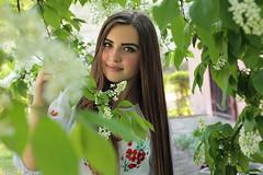 Ukrainian Spring-8 (Pavlo Kuzyk) Tags: flowers tree nature girl canon spring pretty dress blossom ukraine embroidered ivanofrankivsk