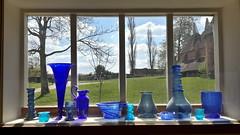 Sissinghurst, Kent (Chris Glover -) Tags: blue trees sky cloud house tree green art window glass bristol sissinghurst kent nt national frame trust vase nationaltrust vases oust bristolblue
