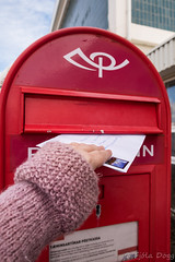 via snail mail ... (Fjola Dogg) Tags: red canon iceland spring mail outdoor pad stamp postbox sland snailmail rautt selfoss southiceland frmerki pstur rauur rborg md rnesssla powershotg7x canonpowershotg7x canong7x padfjoladogg mdfjoladogg pstukassi