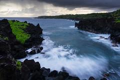 The Hana Mood (sampost) Tags: ocean longexposure beach hawaii rocks waianapanapa maui hana volcanic