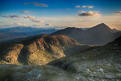 Evening on Cul Mor (OutdoorMonkey) Tags: shadow wild sunlight mountain sunshine landscape evening scotland hill bluesky remote wilderness sutherland assynt culmor culbeag drumrunie