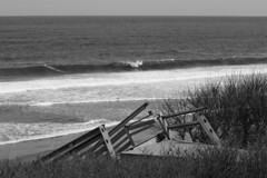 Heavy Surf, Crisp Day (brucetopher) Tags: ocean sea blackandwhite bw white storm black beach monochrome weather blackwhite surf waves wind destruction wave gale erosion disaster damage