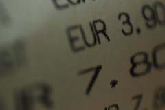 Rechnung in Euro (Hamburgers from Rome) Tags: bill euro numbers receipt account calculation accounting quittance