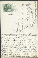 Archiv E178 Karte mit Stempel aus Swinemnde (back) vom 17. Juli 1907 (Hans-Michael Tappen) Tags: stamps postcard 1900s postkarte 1907 swinemnde handschrift briefmarke poststempel 1900er archivhansmichaeltappen