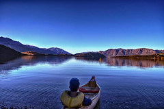 What Lies Beyond The Horizon (Kevin_Jeffries) Tags: blue sky mountain lake holiday reflection water beautiful beauty boat fishing nikon scenery hill scenic deep peaceful calm canoe adventure serene ripples recreation wanaka contemplation d90 glendhubay kevinjeffries