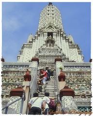 Temple of the Dawn (Ghatahora Photography) Tags: thailand singapore chaophrayariver boathouses hampshirephotographer songsoftheseasingapore bhupinderghatahora ghatahoraphotography chinesepogodatowertemple floatingmarketchaophraya tourriverbangkokthailand marketoutsidewatarun