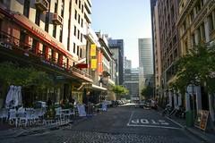City waking up (Dreamcatcher photos) Tags: street architecture buildings southafrica restaurant capetown dreamcatcherphotos