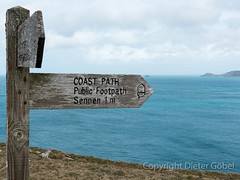 Coast Path bei Lands End (gbel_d) Tags: england cornwall schild wegweiser
