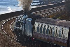 Steam Loco 'Royal Scot' passing Langham Rock (por2able) Tags: steamlocomotive dawlish royalscot dawlishwarren lmsroyalscotclass7p460no46100 langhamrock