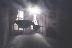 INSOMNIA (Pauline L photographe) Tags: france urbandecay fineart levitation fantasy urbanexploring fineartphotography urbex lvitation darkbeauty fineartphotographer canonfrance mdole castelabandonned