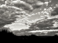 Cloudy Patterns- HSS (Betsie Nel) Tags: blackandwhite monochrome clouds landscape pattern ipad sliderssunday