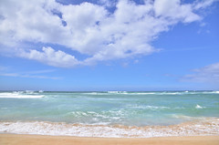 HWI_1115 (Ikuhito) Tags: ocean blue cloud beach hawaii oahu wave northshore