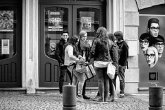 Youth in Ath, Belgium. (kitchou1 Thanx 4 UR Visits Coms+Faves.) Tags: world street people bw art architecture kids season landscape spring europe cityscape exterior belgium nb enfant printemps saison