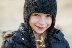 Zo (Koen Adriaenssen) Tags: winter portrait cold girl beautiful smile up kids canon kid nice child close sweet 7d laugh 18 85