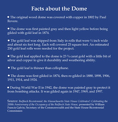 Facts about the Dome (State Library of Massachusetts) Tags: bostonmassachusetts massachusettsstatehouse statehousedome massachusettslegislature