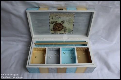 "Caixa de bijuterias ""Vintage Sea Turtle"""