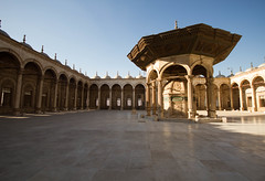 Courtyard of Mosque (Dissonancefalling) Tags: egypt cairocitadel mosqueofmuhammadali
