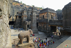INCREDIBLE ELLORA CAVES (GOPAN G. NAIR [ GOPS Creativ ]) Tags: india tourism rock architecture wonder temple photography ancient tour alien carving caves incredible nair ajanta ellora gops kailasa gopan gopsorg gopangnair gopsphotography