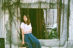Window (Mr.Sai) Tags: portrait film girl analog 50mm nikon fuji f14 taiwan nikkor ai fm2  c41  pro400h