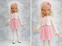 Outfit for Kaye Wiggs MSD (Maram Banu) Tags: pink outfit doll handmade bjd layla sunkissed msd kayewiggs kazekids fairystyle marambanu