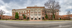 Panorama - Owensboro High School (AP Imagery) Tags: ohs elevated ky owensboro building architecture highschool cityschool panorama kentucky pano frederica usa