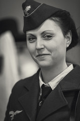 Military History Fest 12 - 2016 (SauceyJack) Tags: winter portrait blackandwhite bw history monochrome face person blackwhite costume illinois uniform cosplay military monochromatic resort il convention historical february fest impression officer reenactors reenact redarmy pretend reenacting 2016 pheasantrun megacenter lrcc militaryhistoryfest canon1dx 7020028isiil sauceyjack lightroomcc