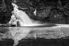 DSC_0101-2 (Michael P Bartlett) Tags: bw reflection water river mono waterfall stream falls waterblur slowwater minekillfalls