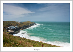 House With A Storm View (flatfoot471) Tags: ocean summer england holiday landscape coast cornwall unitedkingdom newquay normal pentire 2015