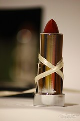 Lipstick in the mirror (Nathalie_Dsire) Tags: mirror ribbon lipstick cosmetics