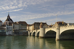 Old Town of Basel (Rich2012) Tags: bridge river switzerland central basel middle brücke rhine dri hdr mittlere