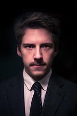 self portrait (mathias.schalk) Tags: portrait dark tie portrt business suit krawatte anzug