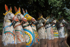 Les chevaux de Chttinad (Jacques GUILLE) Tags: india tamilnadu inde chevaux chttinad