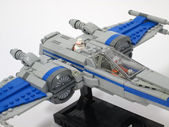 Incom T-70 Resistance X-Wing Fighter (Genghis Don) Tags: star fighter lego space xwing spaceship wars resistance moc t70 starfighter incom