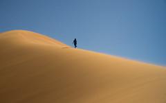 The Ascent (StuBearPhotos) Tags: africa sahara silhouette walking landscape sand desert wind outdoor dunes dune north minimal ridge morocco figure planet lonely dust ascent nexf3 lpawol