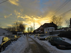 Sunset after the blizzard of 2016 (zaxouzo) Tags: road sunset sky snow blizzard 2016 canonsx50