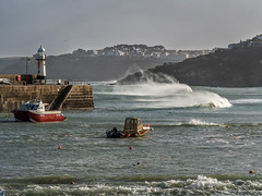 Big Seas in St Ives Harbour 1122 (RockArea) Tags: cornwall stives
